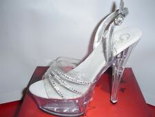 Stripper Pole Dancer Exotic Platform Shoe Size 6 Pleaser Kiss-237