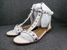 COACH Sadie New Semi Matte Flat Sandals Womens Size 7 M B Medium Chalk