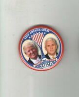 2020 pin DONALD TRUMP Mike PENCE pinback JUGATE Campaign Keep AMERICA GREAT