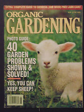 Organic Gardening Magazine may june 1995 garden problems solved weed guide