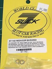 SLICK 7 S7-142 Reducer Bushing 1/4 to 3/16  (1 pr) slot car Mid America Raceway