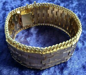 Womens 18ct / 18 Carat / 18K / 18 Karat Yellow Gold 750 Bracelet - 106.63g