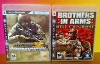Brothers in Arms + Socom Confrontation Sony PlayStation 3 PS3 Games Lot COMPLETE