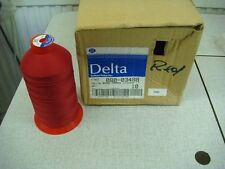 NEW Coats Delta bulked polyester Red/rose sewing thread-4x5000m cones,80ct