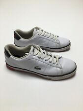 Lacoste Tennis Shoes Beckett Athletic Sneakers White Leather Men's Sz 10