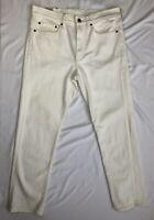 NWT 32x30 J.Crew 770 Straight-fit stretch jean in White! KURABO Denim $98