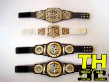 4 Custom NXT UK  Wrestling Figure Belts WWE WWF for Mattel Figures
