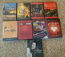 Lot of 9 Christian DVDs Joyce Meyer Pat Robertson Hillsong Michael W Smith used