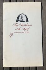 RESIDENCES AT THE TOP OF RENAISSANCE PLAZA Toronto Condo Sales Brochure 1970s