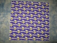 "NFL MINNESOTA VIKINGS 22 1/2"" HEAD BANDANA - OR CHEERING CLOTH"