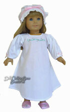 """Nightgown & Mob Cap for 18"""" American Girl COLONIAL ERA Doll Clothes"""