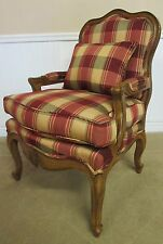 FRENCH WALNUT ARM CHAIR, WITH PILLOW, BY PAMA FURNITURE., HIGH END, CLEAN