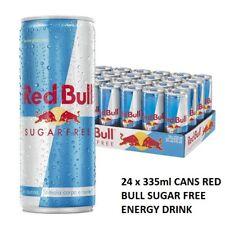 24 x 335ml CANS RED BULL SUGAR FREE ENERGY DRINK GYM SPORTS Team F1 116877