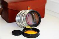 RARE KMZ SILVER JUPITER-6 RED P Sonnar Copy 2.8/180mm USSR SLR lens M42 #000702
