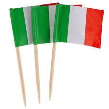 "100 Count Box 2.5"" Italy Italian Flag Mini Toothpicks Picks"