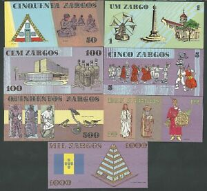 PORTUGAL MADEIRA FULL SET 1 TO 1000 ZARCO  (FLAMA )  UNC
