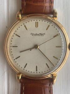 IWC International Watch Company Schaffhausen Mens 18KT Wrist Watch