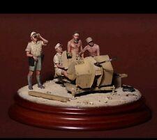 1/35 Scale Unpainted Resin Figures WW2 DAK crew for 2 cm Flak 38 (4 figures)