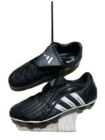Adidas Traxion Firm Ground Mens Sz 10.5 US Soccer Cleats Black White Retro 2005