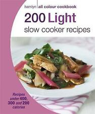 200 Light Slow Cooker Recipes, Paperback, New Book