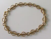 9ct Gold Bracelet - Vintage 9ct Gold Chain Linked Bracelet
