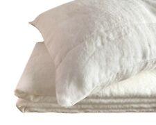 """100% Leinen """"Stonewashed"""" Bettwäsche-Set (155x220, 40x80 cm) Off White soft"""