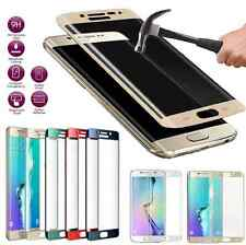 Full Cover Tempered Glass Screen Protector Fr Samsung Galaxy S6 S7 Edge + Curved