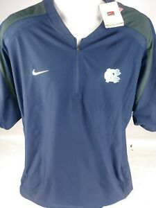 NWT Nike Fit Storm Men 1/4 Zip Golf Pullover North Carolina NCAA Size Large Blue