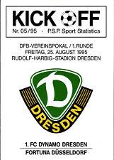 DFB-Pokal 95/96 1. FC Dynamo Dresden - Fortuna Düsseldorf, 25.08.1995
