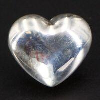 Sterling Silver DENMARK Henning Ulrichsen Modern Solid Heart Slider Pendant 2.5g