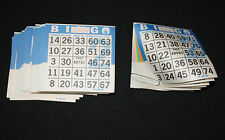 BINGO PAPER Cards sheets 1 on 6 up Blue Border  50 packs  FREE SHIPPING IN US