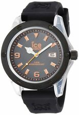Ice-Watch Men's XX.OE.XX.R.09 XXL Orange Dial Black Rubber Strap Watch New