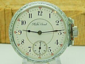 Antique South Bend 17 jewel grade 290 model 1 pocket watch circa 1905 Sidewinder