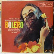 Vintage LP - Bolero - Boston SO with Charles Munch - mono pressing - 1956