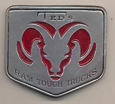 Vintage Ted's Dodge Ram Tough Pickup Trucks Pewter Belt Buckle Pocatello Dealer
