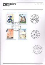 ITALIA 2001 AMBIENTE E NATURA  BOLLETTINO COMPLETO DI FRANCOBOLLI FDC