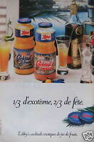 PUBLICITÉ 1980 LIBBY'S COCKTAILS EXOTIQUES DE JUS DE FRUITS -ADVERTISING