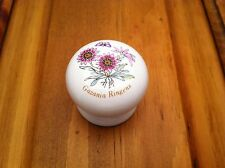 NEW WHITE CERAMIC LAVENDER FLORAL CABINET DOOR KNOBS FREE SHIPPING