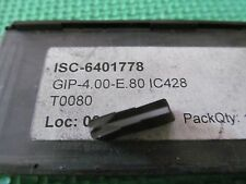 New Iscar GIP 4.00 E.80 IC428 Buy It Now = 4 Inserts Free Shipping