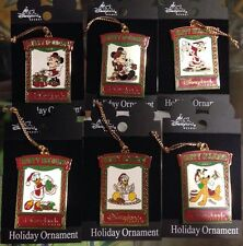 Fab 6 Disney DLR HAPPY HOLIDAYS ORNAMENT PINs 2001 CHRISTMAS DISNEYLAND RESORT