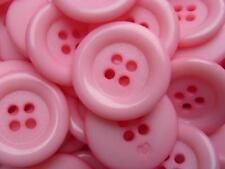 LARGE RANGE OF COLOUR- 6pcs CLOWN PLASTIC ITALIAN BUTTONS 4 HOLE 23mm-C2029