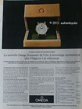 PUBLICITE MONTRE OMEGA SEAMASTER DE VILLE ELEGANCE DE 1962 FRENCH AD WATCH PUB