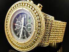 Su Misura da Uomo Breitling Super Avenger Canarino Orologio con Diamanti 50 Kt