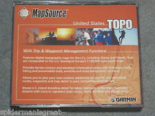 New listing Garmin MapSource United States Topo Cds V3* includes Trip & waypoint management