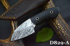 Custom Damascus Steel Skinning Hunting Knife Handmade,G-10 Micarta Handle D829-A