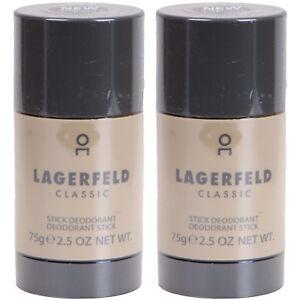 Lagerfeld Classique Stick Déodorant Pour Homme Déodorant 2 X 75g