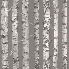 Rasch Textil Greenhouse Papel Pintado 138892 Abedul Árboles Marrón Fibra Húmeda
