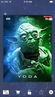 Topps Star Wars Digital Card Trader Platinum Yoda Insert Award
