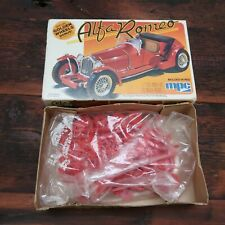 Vintage MPC Alfa Romeo Model Kit 1-0903 Red 1:32 Scale