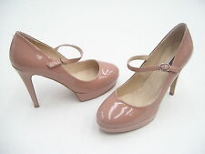 TONY BIANCO HORIZON HIGH HEELS LADIES LEATHER FORMAL DRESS SHOES NUDE PATNT 9.5